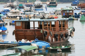 A traditional Boat House. Photographed in Sai Kung Harbour