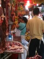 Meat Market stall Mong Kok