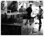 This is one of many fish markets where you can buy fresh fish and iced shellfish and have them cooked. My favorite are the steamed razor clams with garlic and ginger.