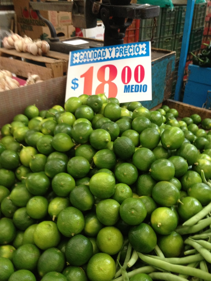 Limes in Jamaica Mercado