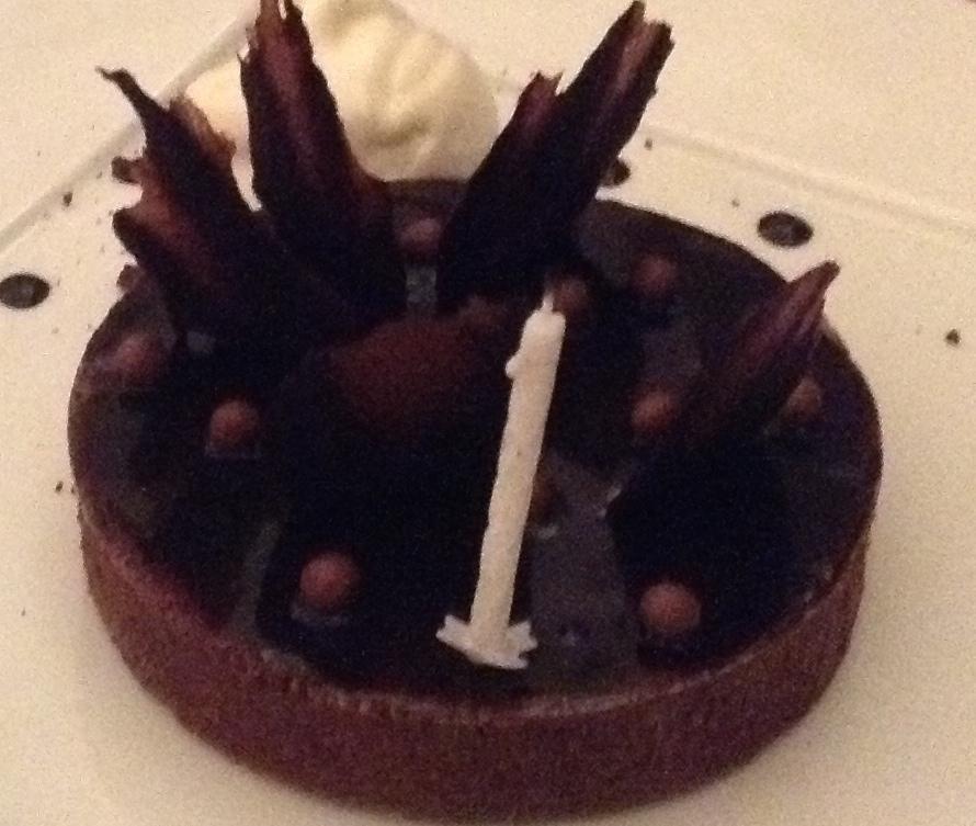 Aubergine Chocolate Cake